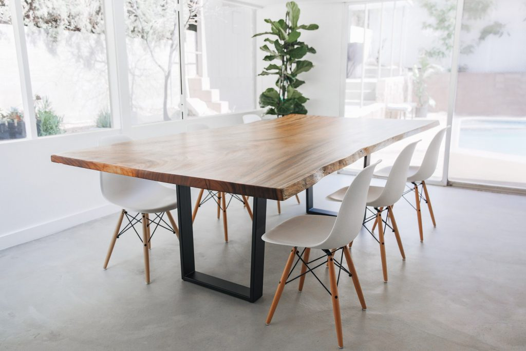 Live Edge Dining Table Monkeypod Kitchen Table Scandinavian Etsy