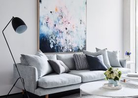 Light Grey Interior Living Room
