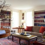 Living Room With Red Oriental Rug Entire Living Room Image And