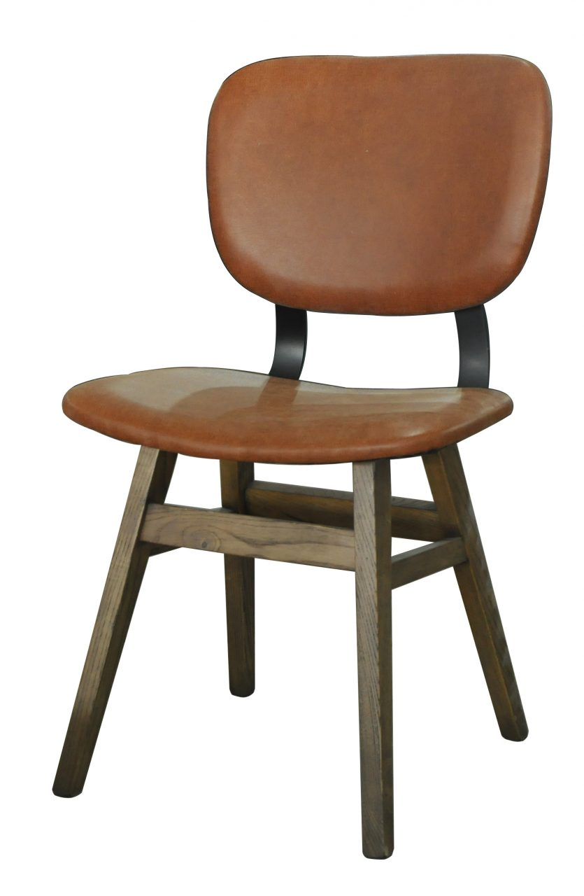 Loon Peak Riner Leather Upholstered Dining Chair Wayfair