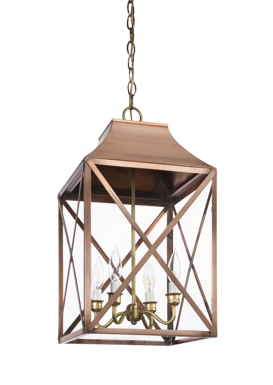 Lora Collection Lg 2 Designer Hanging Pendant Light Lantern Scroll