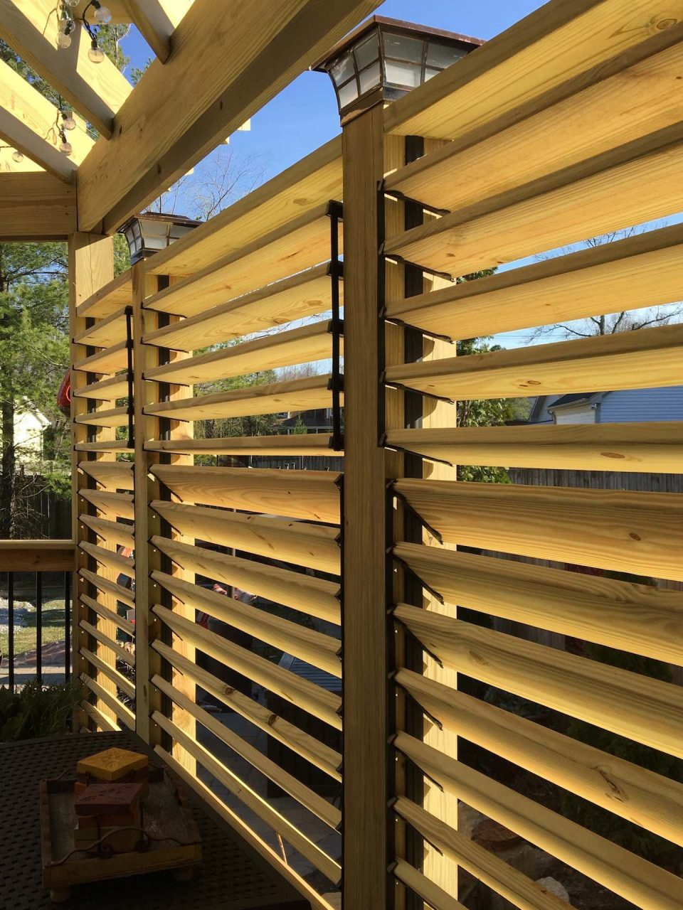 Louvered Deck Railings With Partial Privacy Matthew From Kentucky