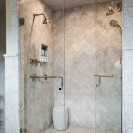 Herringbone Shower Tile Design Ideas