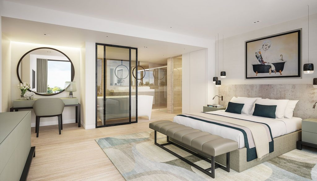 Luxury Contemporary Master Bedroom Suite With Open Plan Ensuite