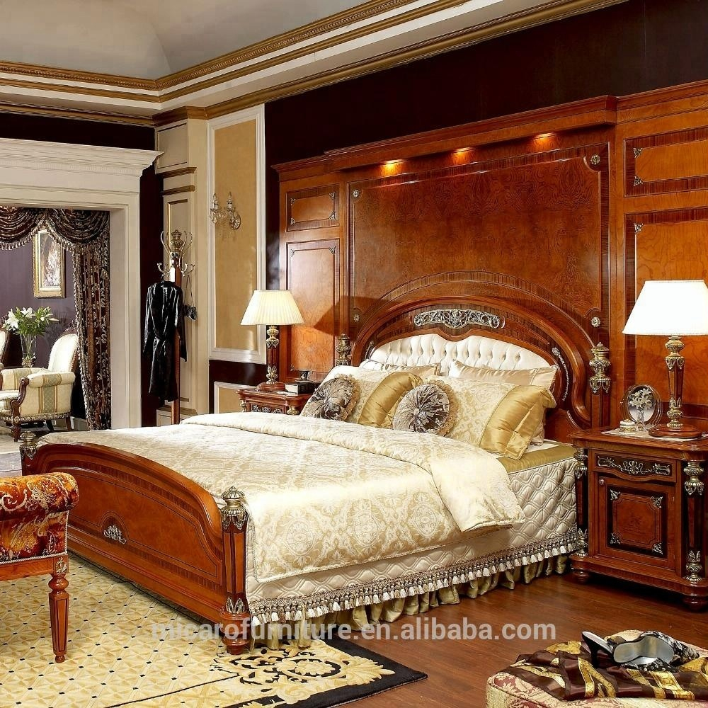 Luxury Royal Wooden Bedroom Furniture Set With King Size Bed Buy