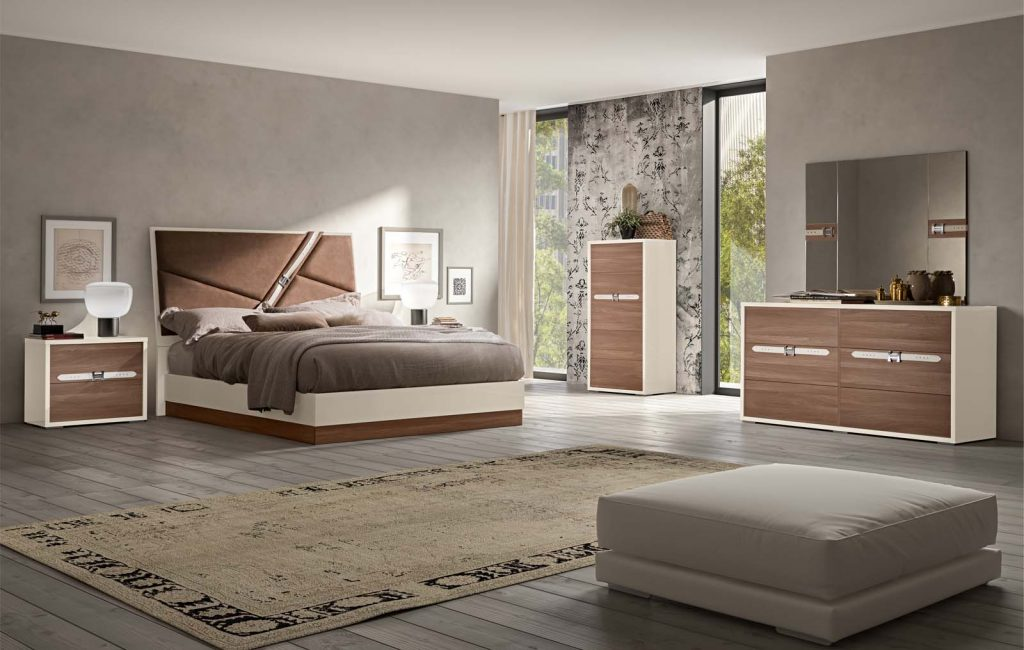 Made In Italy Wood Designer Bedroom Furniture Sets With Optional