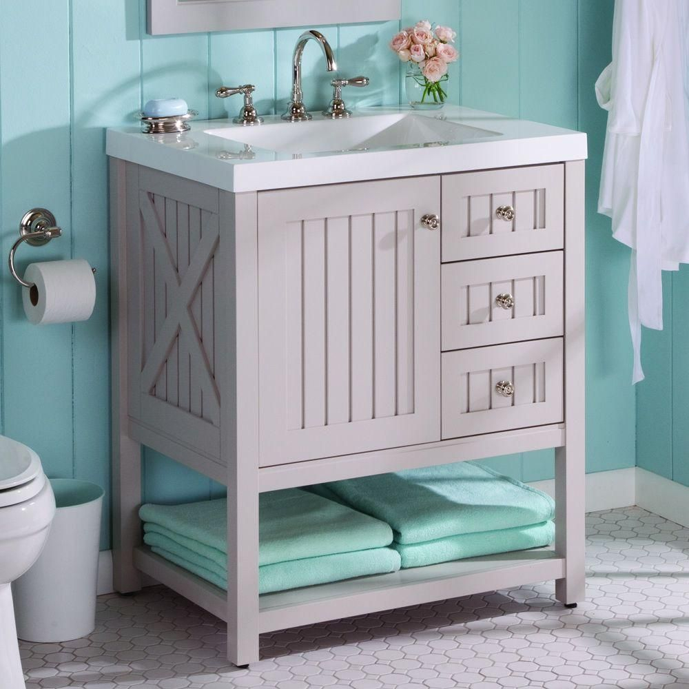 Martha Stewart Living Seal Harbor 30 In W X 22 In D Bathroom