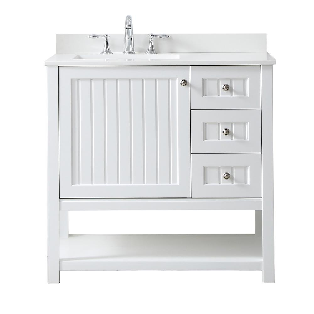 Martha Stewart Living Seal Harbor 36 In W X 22 In D Vanity In