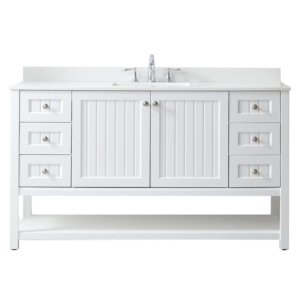 Martha Stewart Living Seal Harbor 60 In W X 22 In D Vanity In