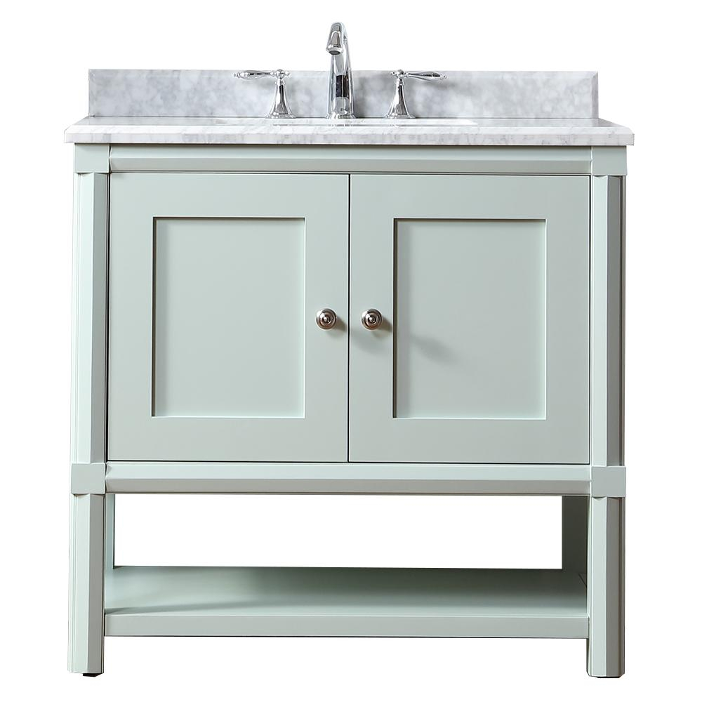 Martha Stewart Living Sutton 36 In W X 22 In D Vanity In Rainwater