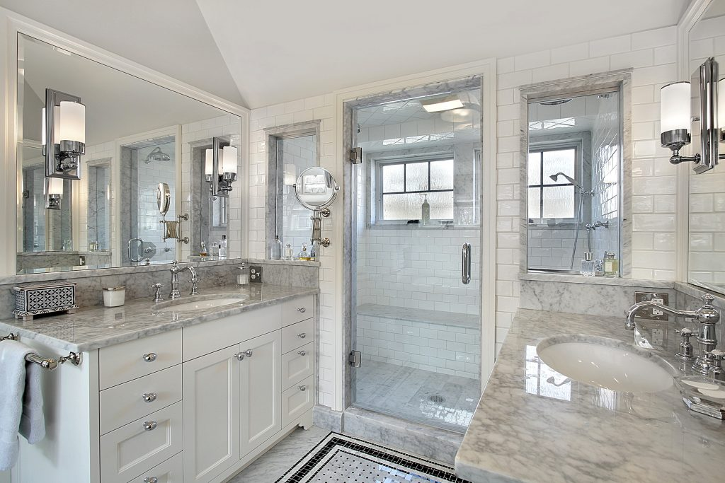 Master Bath With Windowed Shower Major Homes