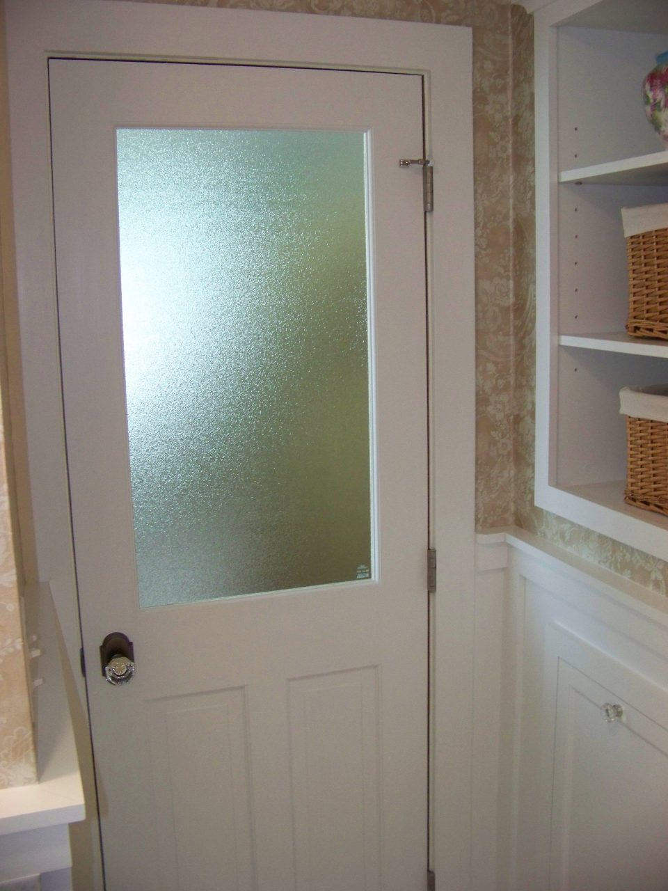 Master Bathroom Remodel Customized Glass Panel Door Ri 1 A2