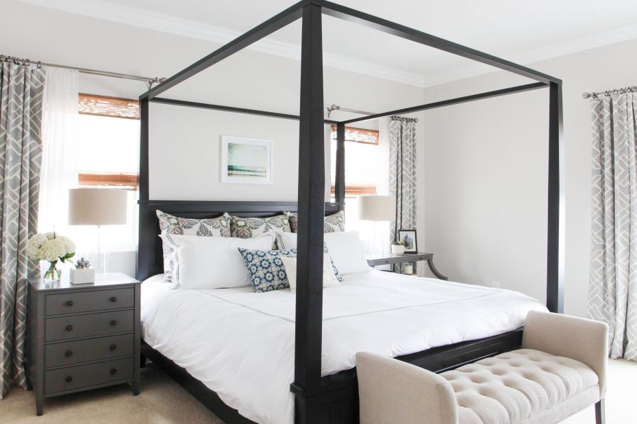 Master Bedroom Four Poster Bed Light Bright Beachy Restoration