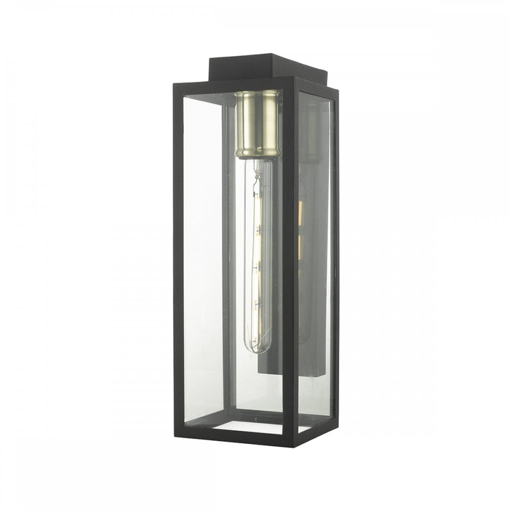 Matte Black And Glass Exterior Wall Lantern Lighting Company