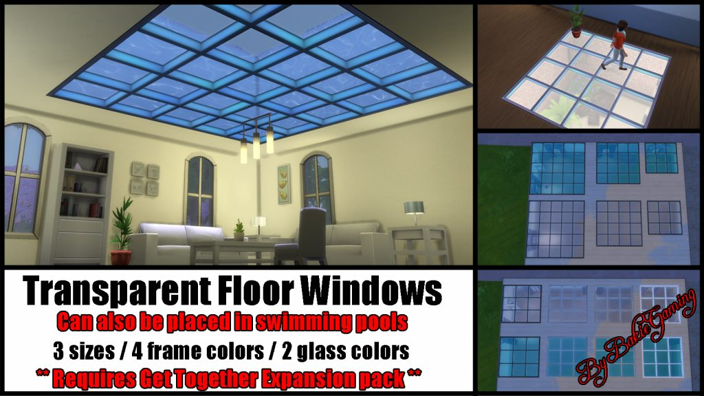Mod The Sims Transparent Floor Windows