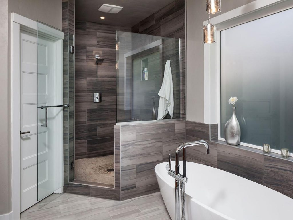 Modern And Masculine Spa Bathroom Hgtv Bathroom Lighting Bathroom