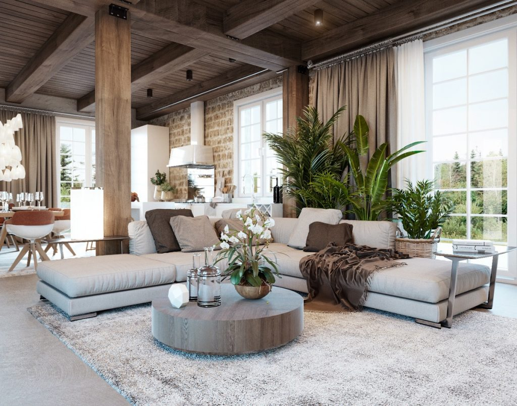 Modern Rustic Living Room Stylish Design Decorating A In 5