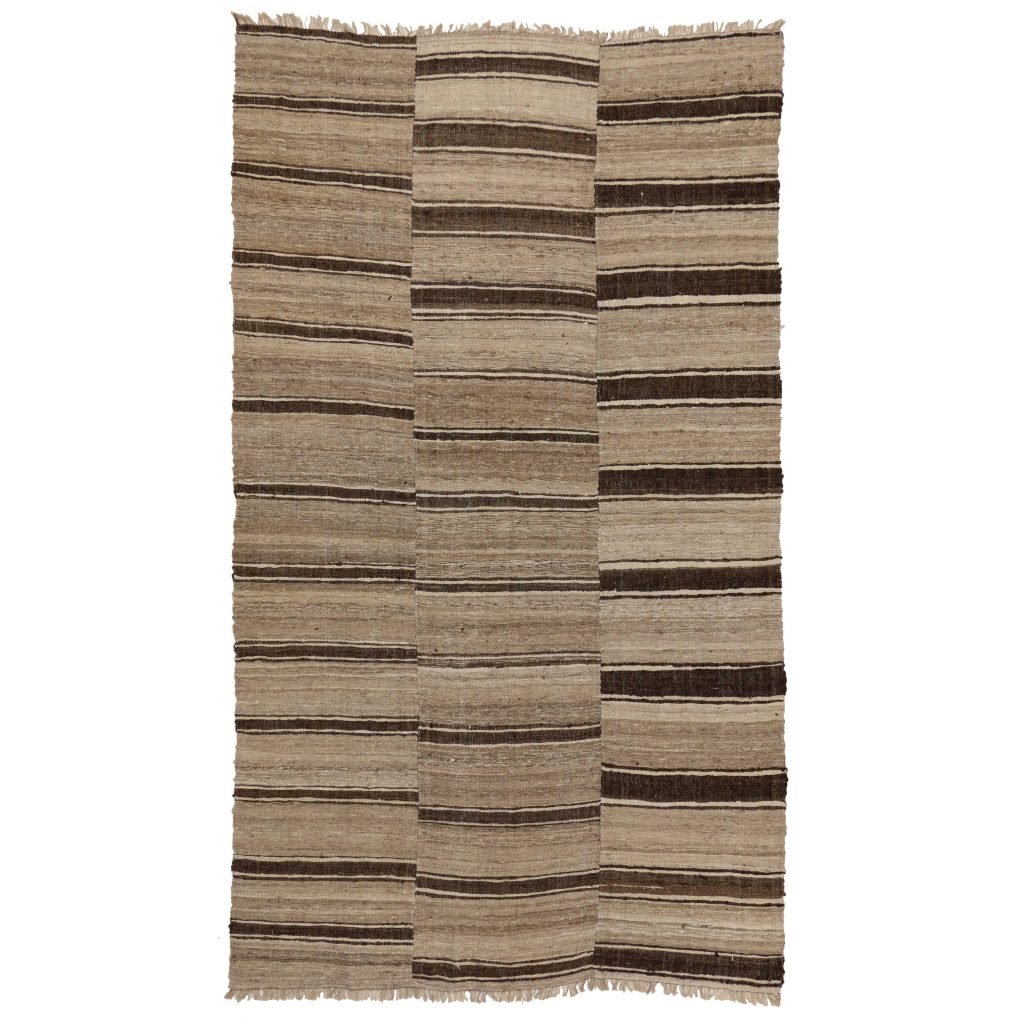 Modern Striped Rug Black And White Kilim Rugs Carpet From