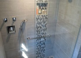 Waterfall Glass Tile Bathroom