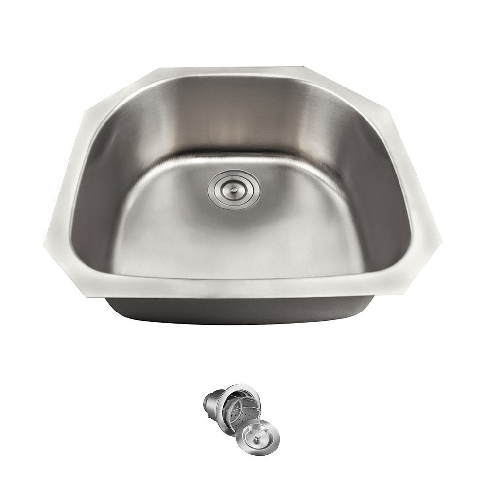 Mrdirect Stainless Steel 24 X 21 Undermount Kitchen Sink With