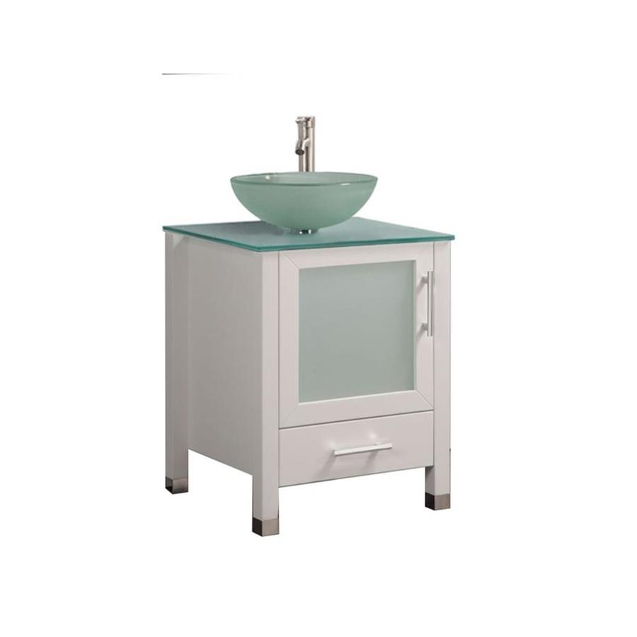 Mtd Vanities 24 In White Single Sink Bathroom Vanity With Painted