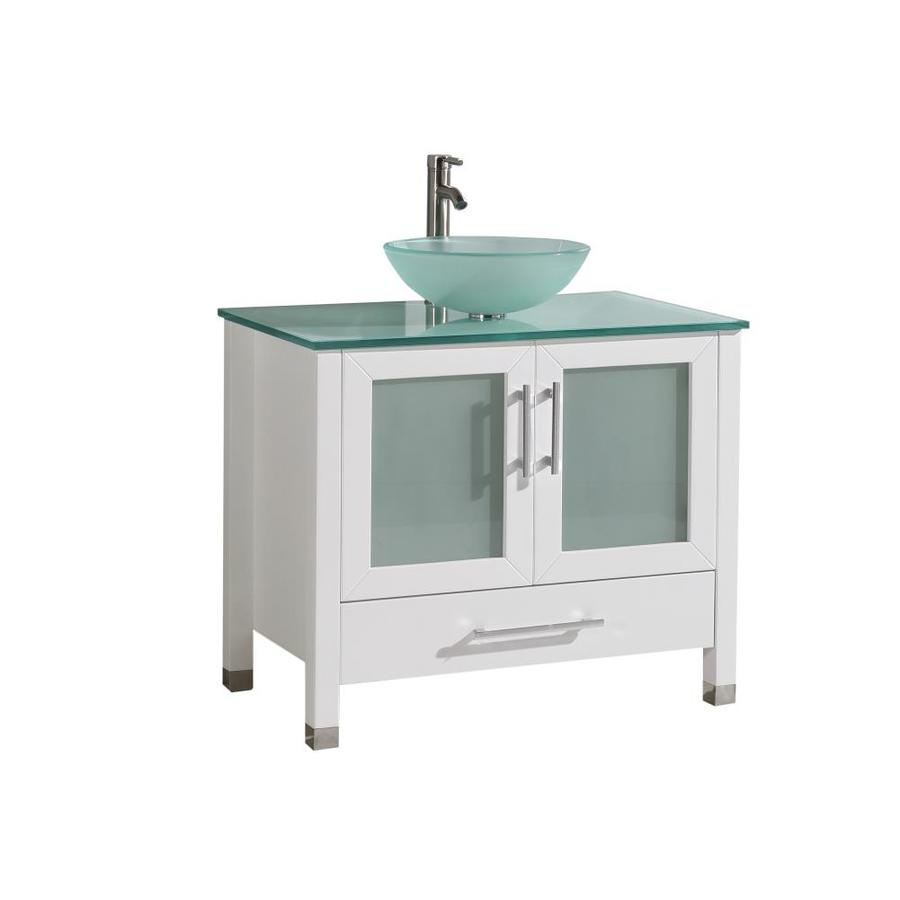 Mtd Vanities 36 In White Single Sink Bathroom Vanity With Painted