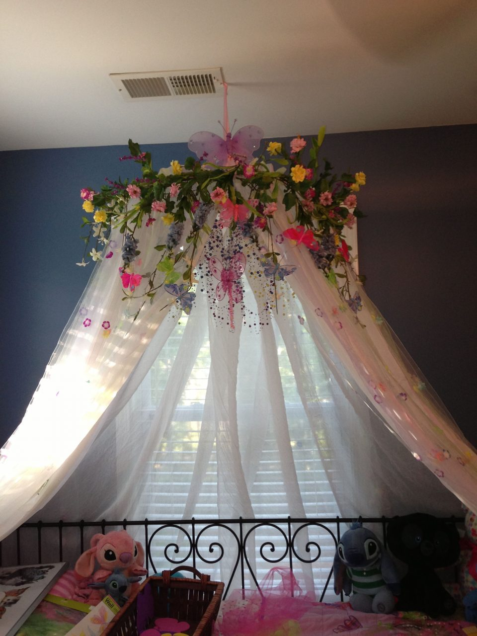 My Diy Version Of A Canopy For My 7 Year Old Daughters Bedroom Made
