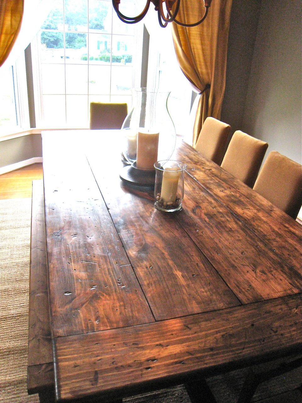 My Hub Just Built This Distressed Farmhouse Table To Complete Our