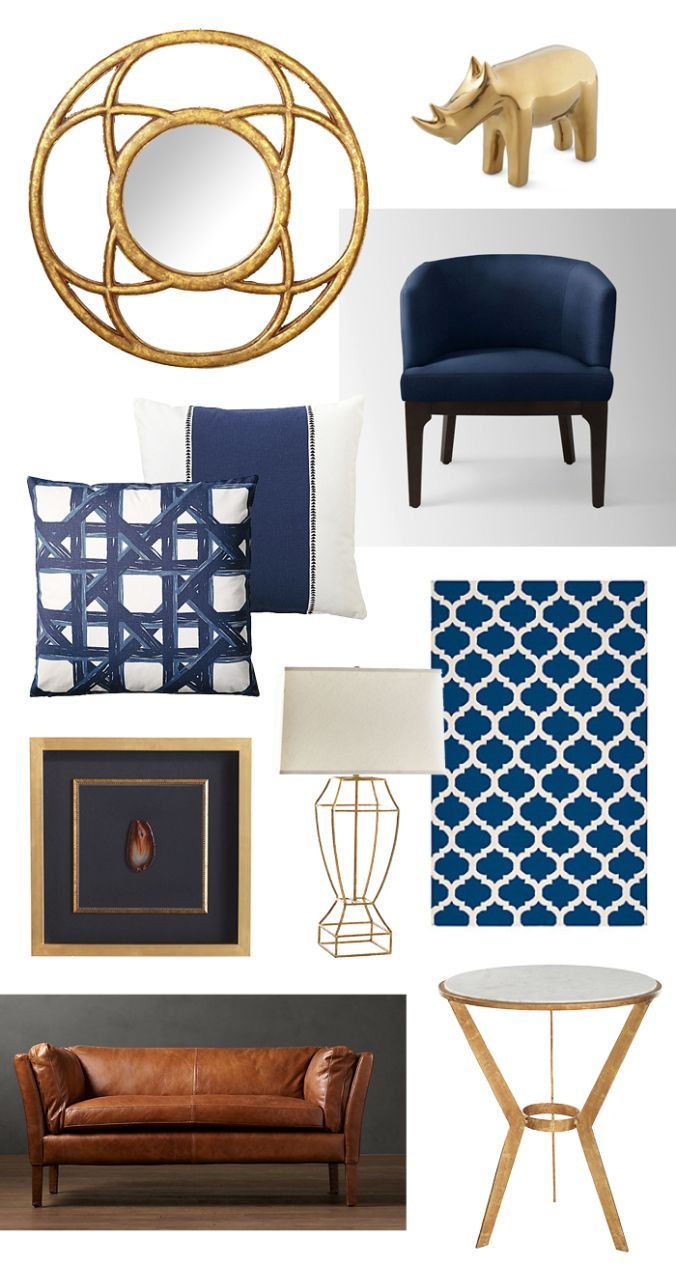Navy Gold Living Room Ideas Gold Home Decor Navy Bedrooms