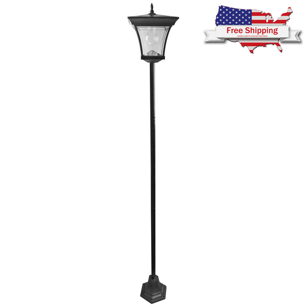 New Black Outdoor Lamp Post Light Pole 72 Inch Garden Yard Driveway
