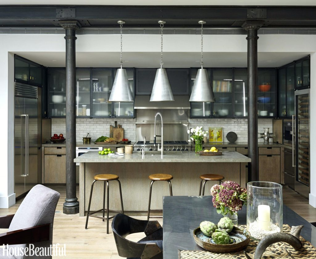 New Style Kitchen Room Image Industrial Style Kitchen Living Room