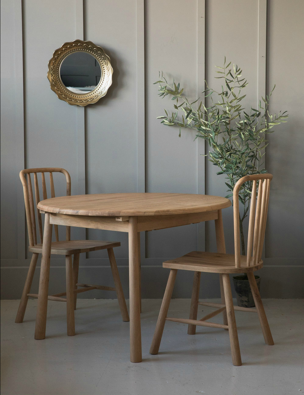 Nordic Round Extending Dining Table At Rose Grey