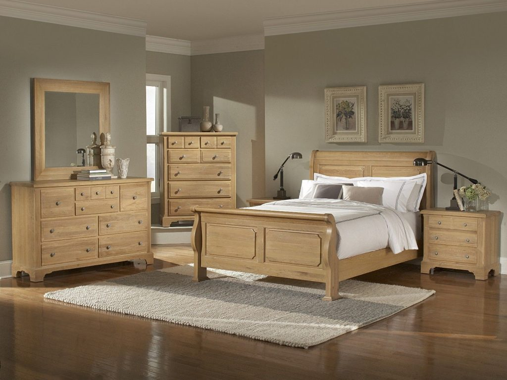 Oak Bedroom Furniture Sets Washed Oak Queen Sleigh Bedroom