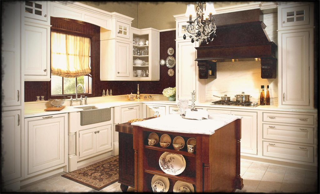 Off White Country Kitchen At Ideas Antique Style French Island