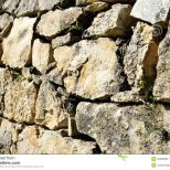 Old Stone Terrace Wall Stock Photo Image Of Yellow 52096828