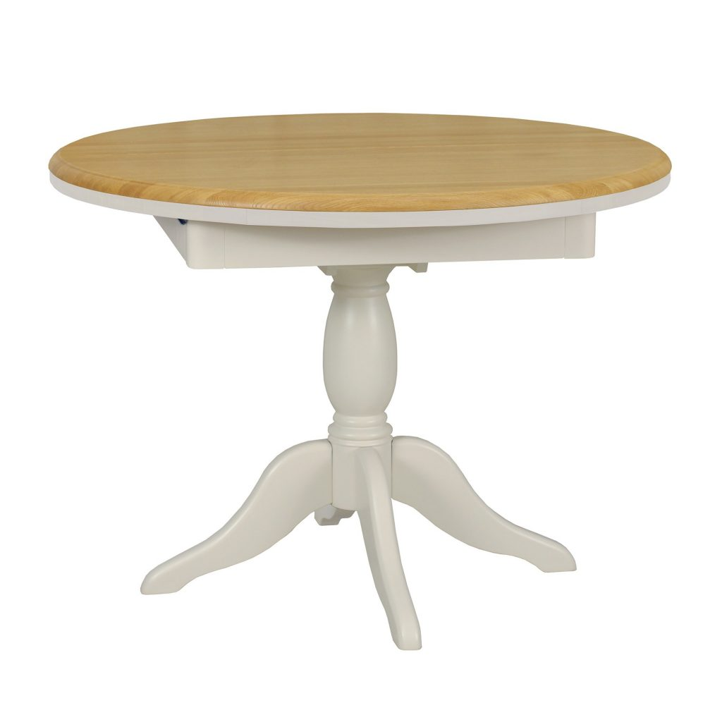 Olivia Oakpainted 103 106 145cm Round Extending Dining Table Tr