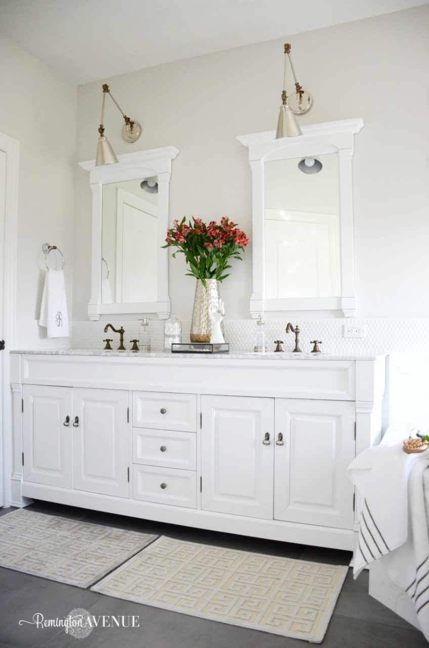 One Room Challenge Bright White Master Bathroom Final Reveal