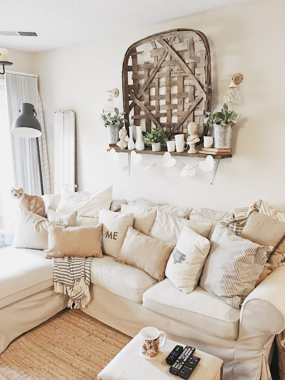 Our Cozy Cat Cottage Farmhouse Living Room Live In 2019 Home