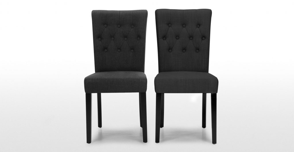 Pair Of Flynn Dining Chairs In Midnight Black Made Dining