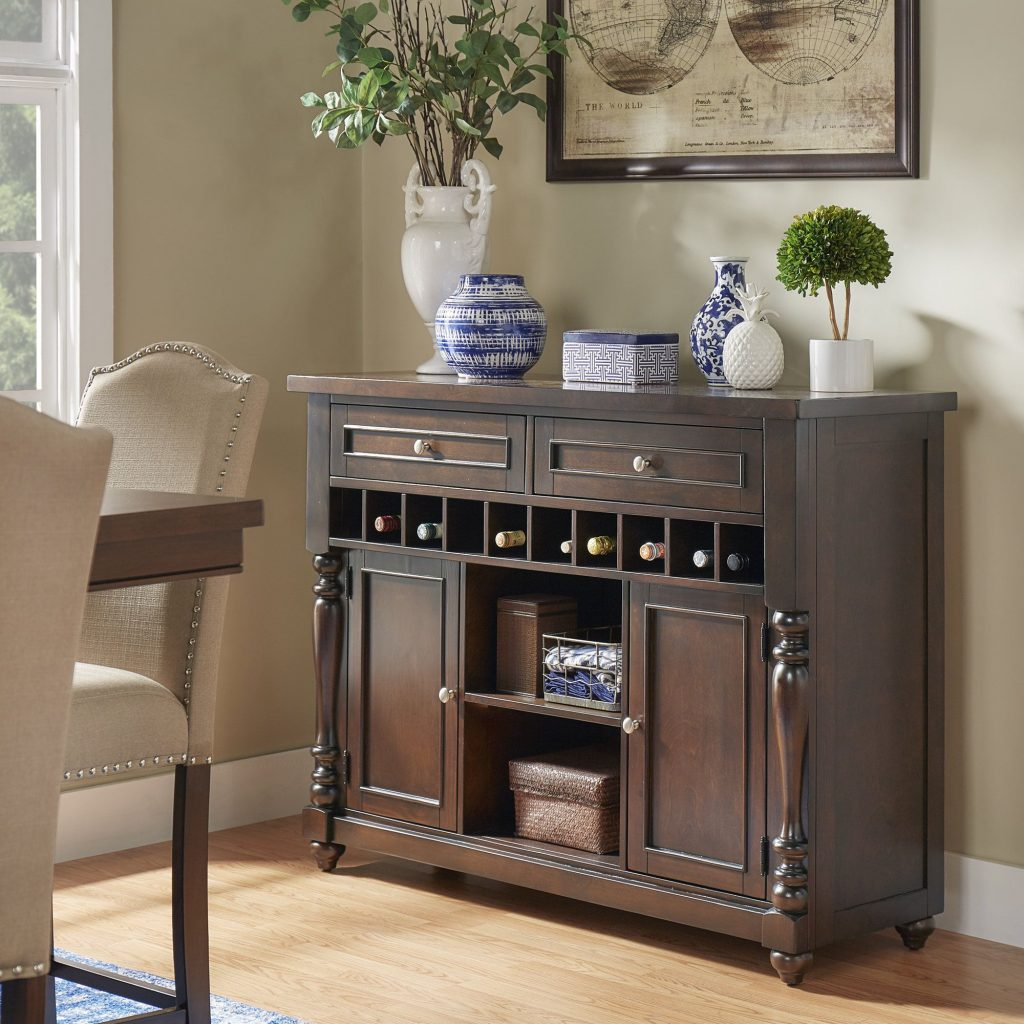 Parisian Wine Rack Buffet Server Inspire Q Classic Brown In 2019