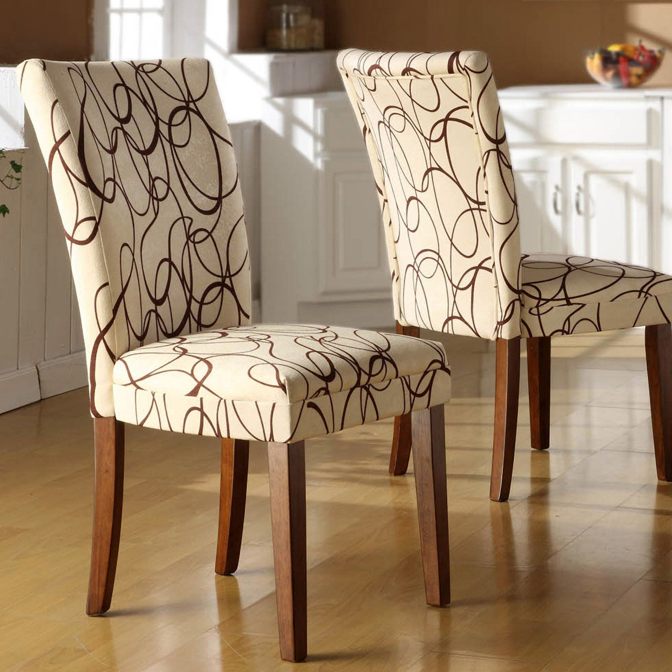 Parson Dining Room Chairs Chairs Fabric Dining Room Chairs