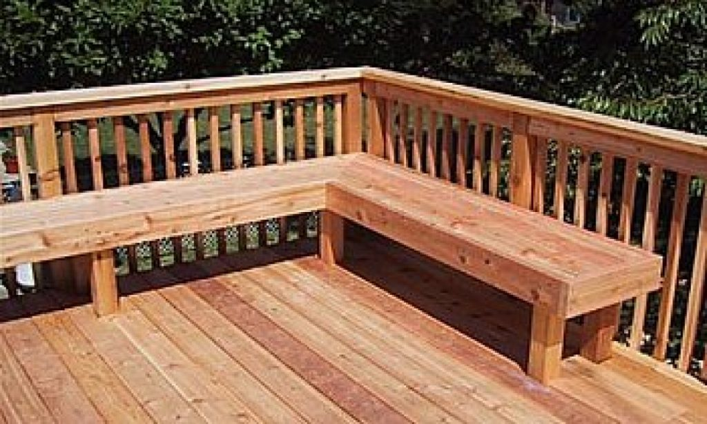 Patio Step Ideas Built In Deck Seating Ideas Bench Bench Railing