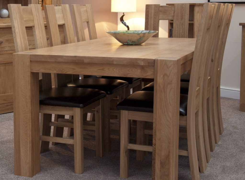 Pemberton Solid Oak Dining Room Furniture Large Chunky Dining Table
