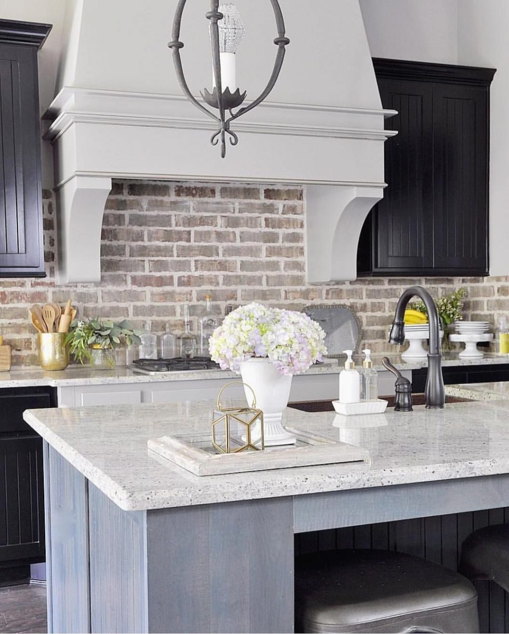 Pin Jamie Jameson On Brick In 2019 Farmhouse Kitchen Cabinets