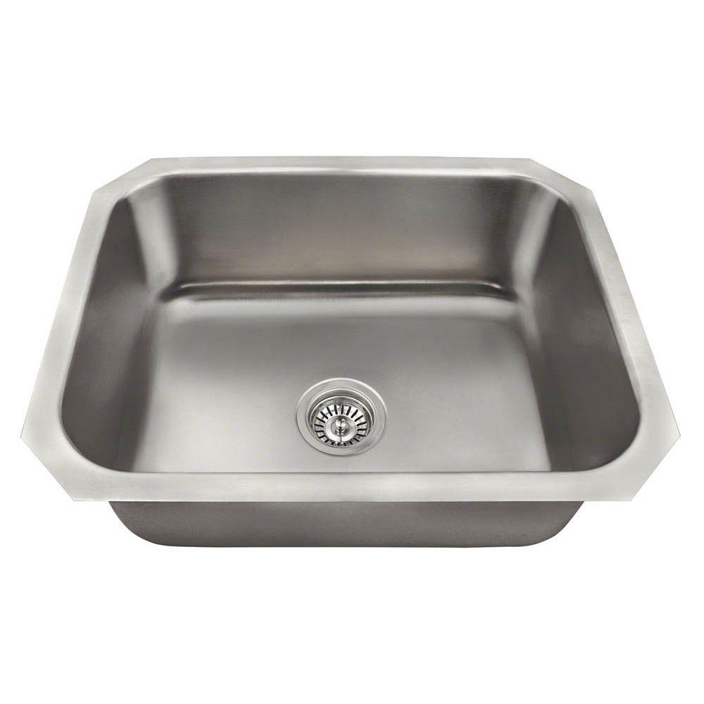 Polaris Sinks Undermount Stainless Steel 24 In Single Bowl Kitchen