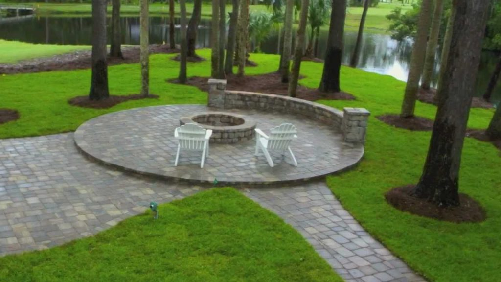 Ponte Vedra Paver Patio Design And Construction With Seat Wall