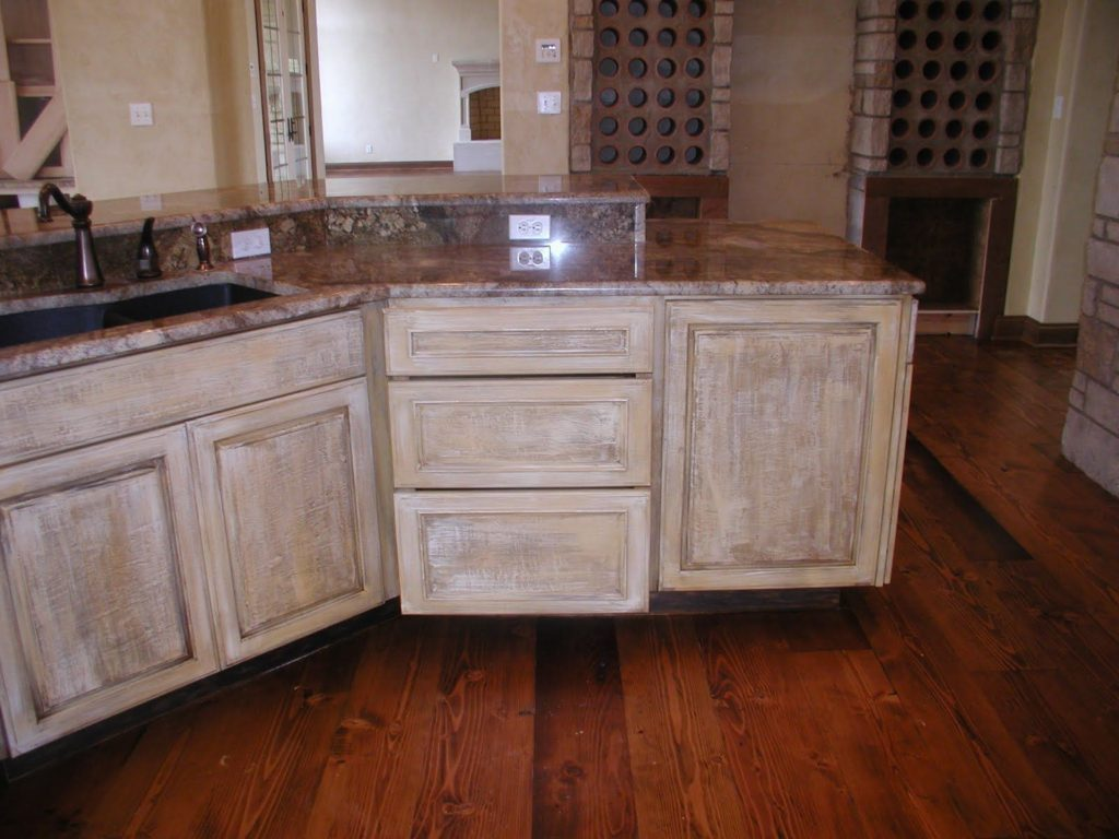 Distressed White Kitchen Cabinets Layjao