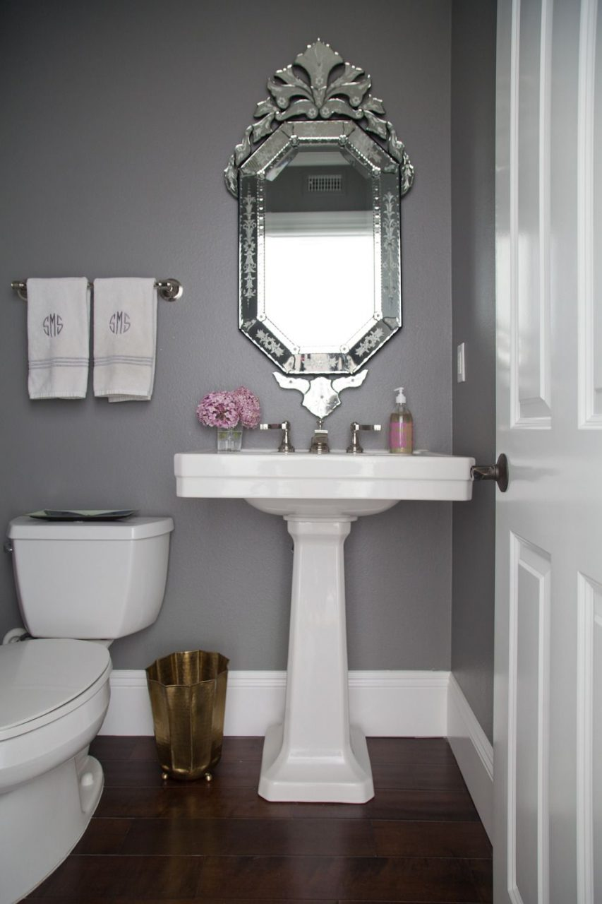 Powder Room Makeover Home Decor Grey Bathrooms Bathroom Home Decor