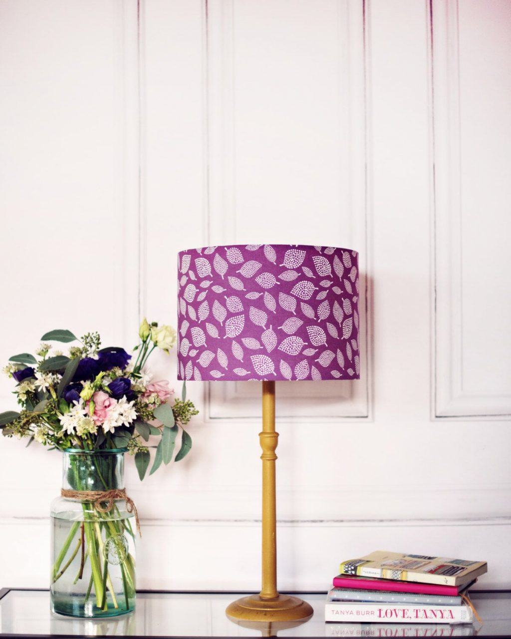 Purple Lamp Shade Purple Scandi Lampshade Purple Bedroom Decor
