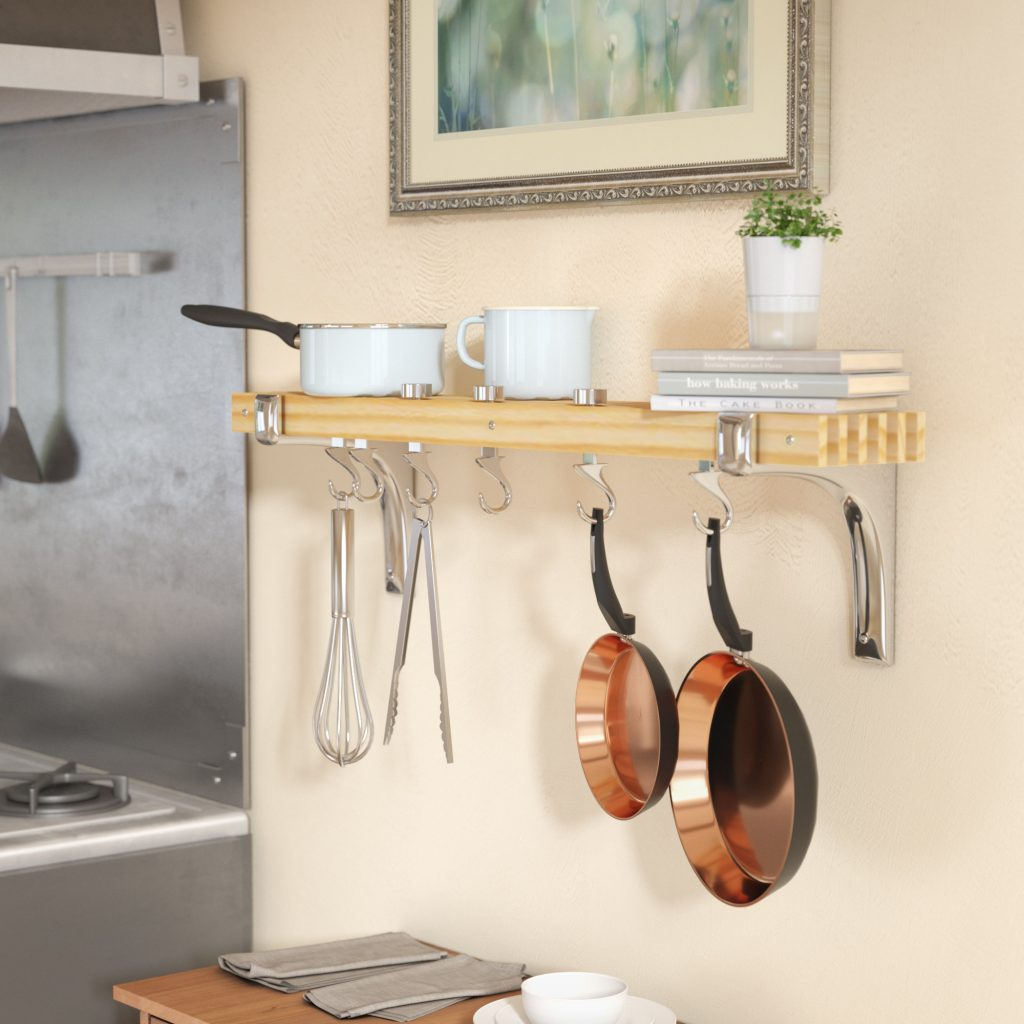 Rebrilliant Wall Mounted Pot Rack Reviews Wayfair